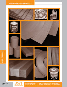 Architectural Woods Catalog (Miscellaneous Products)